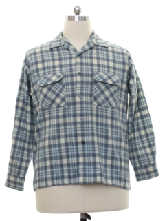 1950's Mens Wool Flannel Board Shirt