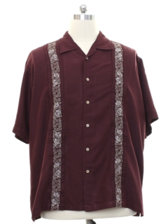 1990's Mens Guayabera Style Club Shirt