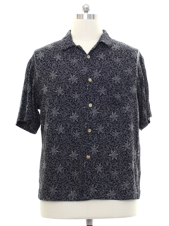 1990's Mens Silk Print Sport Shirt