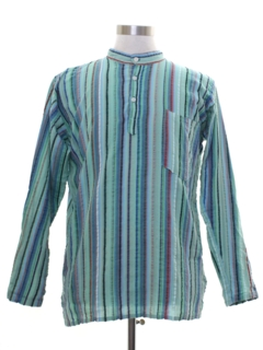 1960's Mens Hippie Style Tunic Shirt