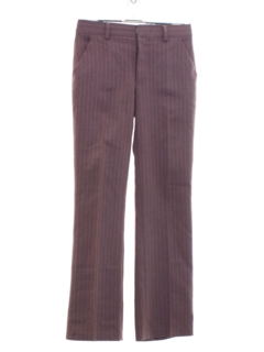 1970's Mens Pinstriped Disco Pants
