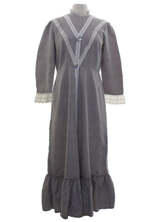 1940's Womens Prairie Maxi Dress