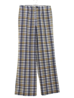 1970's Womens Plaid Pants