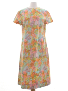 1960's Womens OpArt Mod Dress