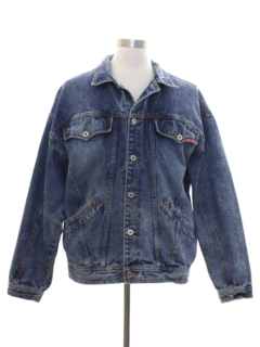 1980's Mens Totally 80s Acid Wash Denim Jacket