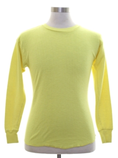 1970's Womens Neon Knit Shirt