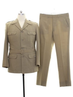 1980's Mens Safari Style Leisure Suit