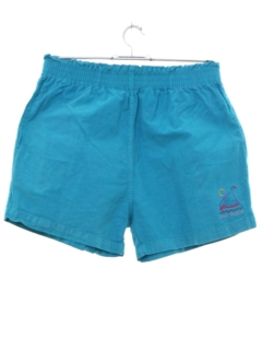 1980's Womens Totally 80s Resort Wear Sports Shorts
