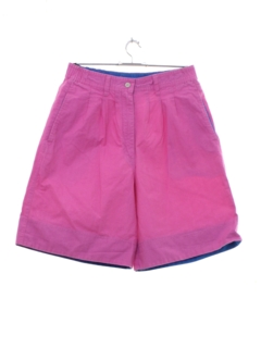 1980's Womens Totally 80s Beach Shorts