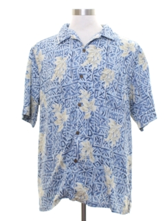 1990's Mens Silk Hawaiian Style Shirt