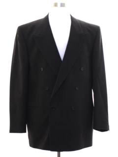 1980's Mens Double Breasted Blazer Style Sport Coat Jacket
