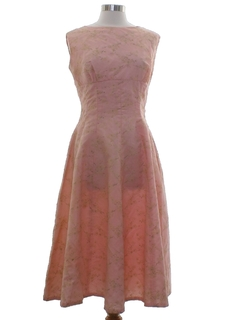 1960's Womens Mod Prom Or Cocktail Dress