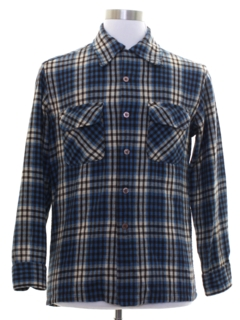 1970's Mens Flannel Board Shirt