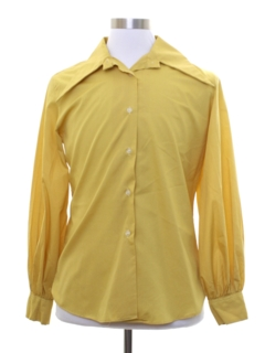 1960's Womens Mod Peacock Revolution Style Shirt
