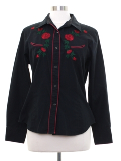 1970's Womens Rodeo Style Western Shirt