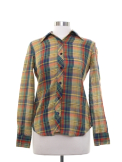 1980's Womens Plaid Shirt