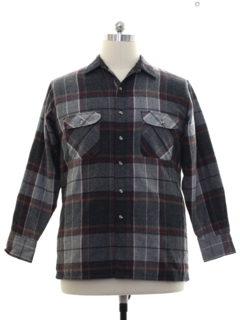 1980's Mens Quilted Lined Flannel Shirt