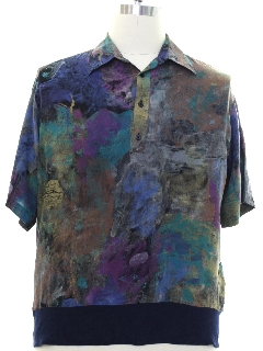 1990's Mens Wicked 90s Graphic Print Shirt
