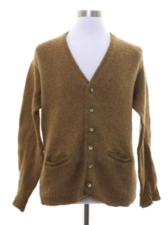 1950's Mens Mod Cardigan Sweater