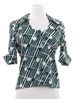 1960's Womens/Girls Mod Shirt