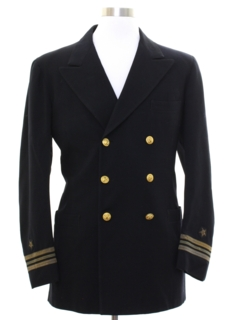 1960's Mens Navy Military Jacket