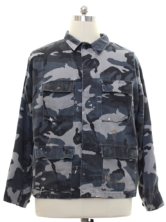 1990's Mens Grunge Camo Work Jacket