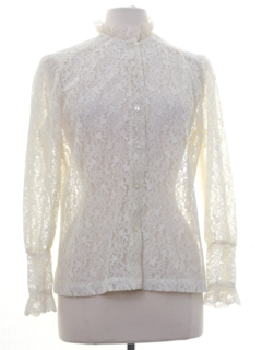 1960's Womens Lace Secretary Shirt