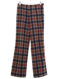 1960's Womens Plaid Pendleton Wool Slacks