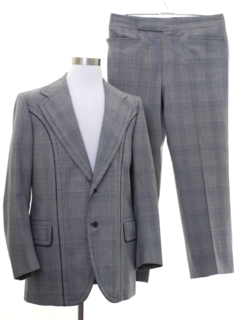 1970's Mens European Designer Mod Suit