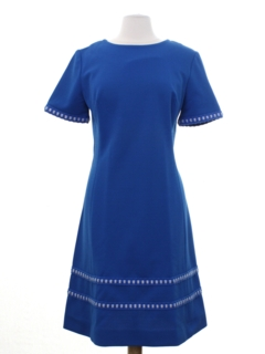 1960's Womens Edith Flagg Mod Knit Dress