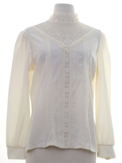 1970's Womens Lace Prarie Shirt