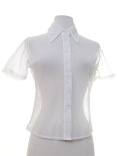 1990's Womens Sheer Shirt