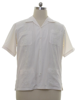 1990's Mens Guayabera Inspired Shirt