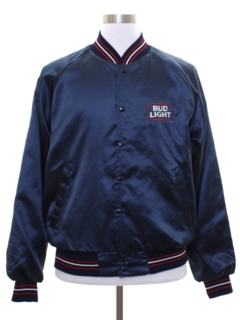 1980's Mens Budweiser Satin Baseball Jacket