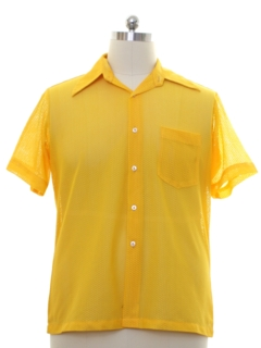 1960's Mens Sheer Mesh Mod Sport Shirt