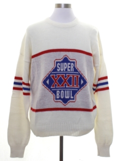 1980's Mens Super Bowl XXII Sweater