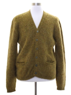 1960's Mens Mod Shaggy Mohair Sweater