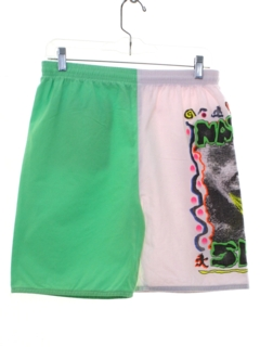 1980's Mens Neon Board Shorts