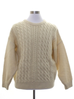 1970's Mens Wool Cable Knit Sweater
