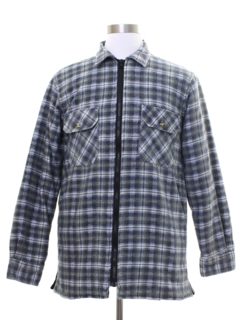 1990's Mens Quilted Lined Flannel Shirt Jac Shirt