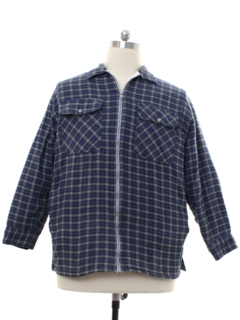 1990's Mens Quilted Lining Flannel Shirt Jac Shirt