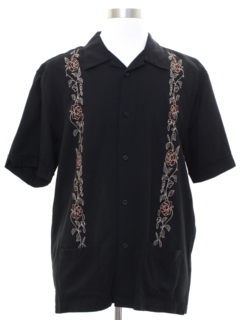 1990's Mens Guayabera Inspired Club Shirt