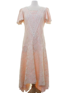 1980's Womens Wedding Prom Or Cocktail Dress