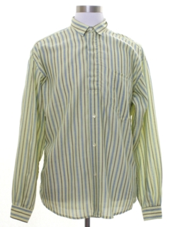1980's Mens Totally 80s Preppy Benneton Shirt