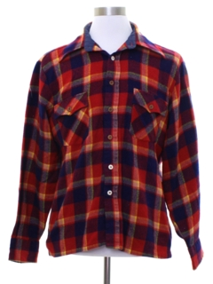 1970's Mens Lumberjack Plaid Flannel Shirt
