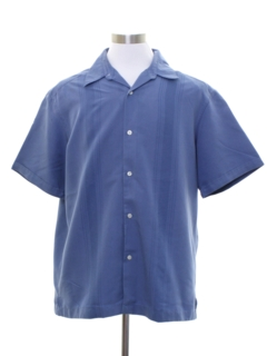 1990's Mens Guayabera Inspired Sport Shirt