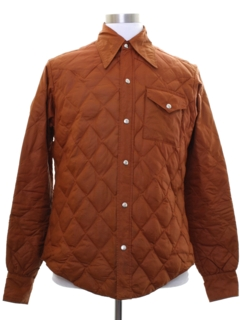 1960's Mens Mod Quilted Ski Shirt-Jack Jacket