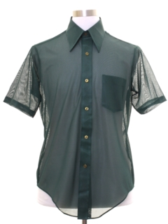 1970's Mens Sheer Mod Shirt