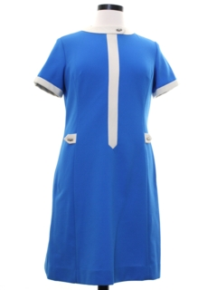 1960's Womens Mod Knit A-Line Dress