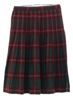 1960's Womens Plaid Circle Skirt
